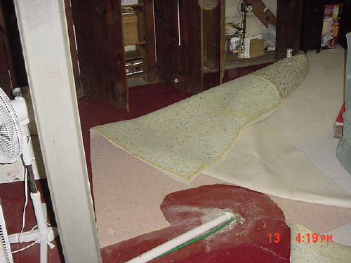 how to clean wet carpet padding